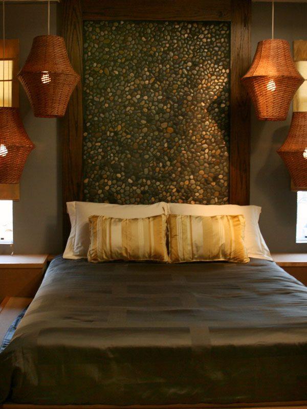 Cabecero de cama de estilo rabe im genes y fotos - Cabeceros de cama con cojines ...