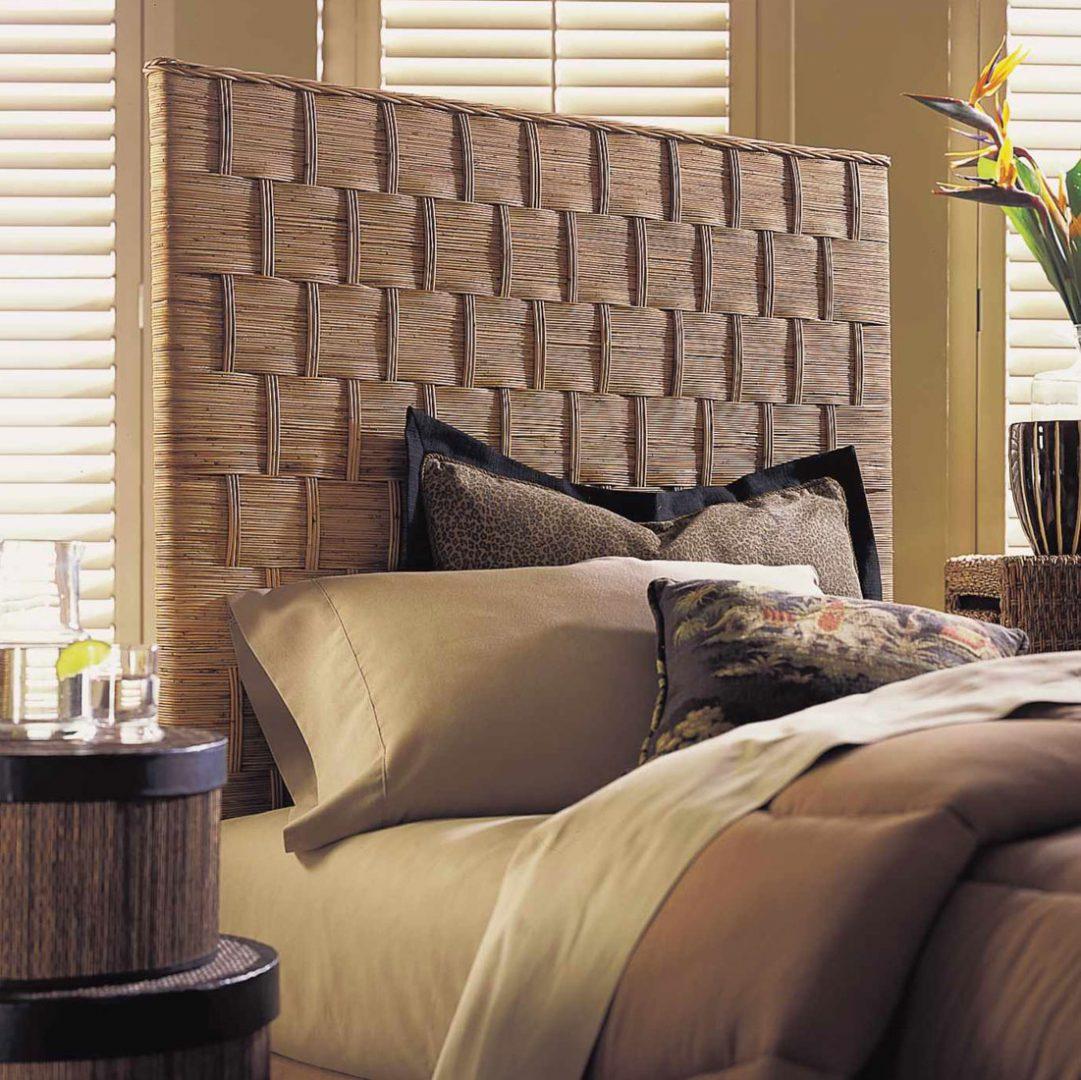 Cabecero de cama de estilo tnico im genes y fotos for Cabeceros de cama manuales