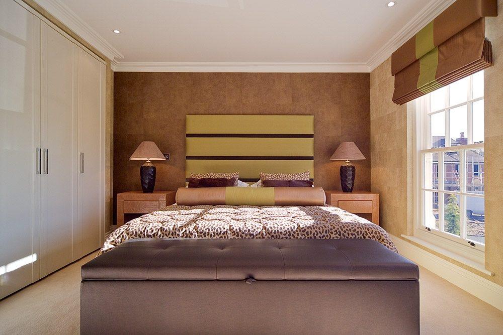 Cabecero de cama moderno im genes y fotos for Decorar pared cabecero cama matrimonio