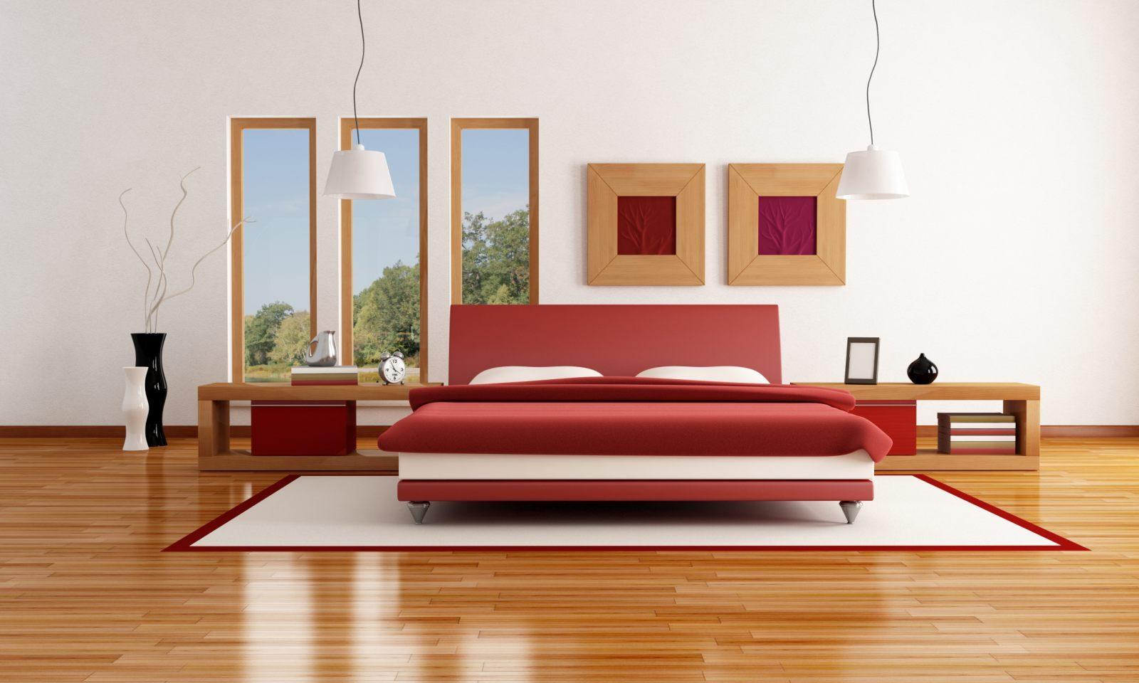 cama para una habitacin moderna