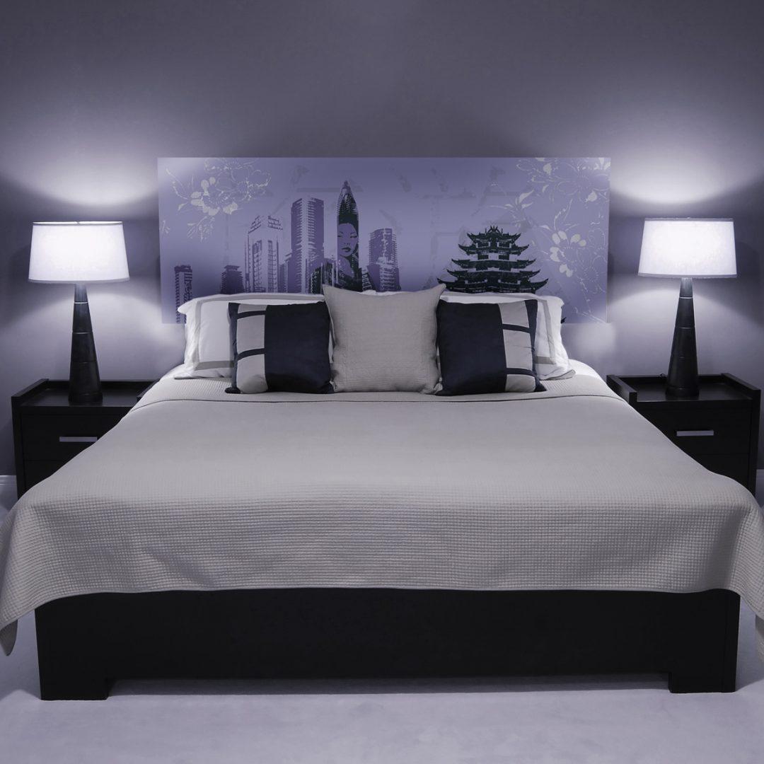 Decoracion cabeceros cama matrimonio top pared decorada con franjas with decoracion cabeceros - Cuadros cabecero cama ...