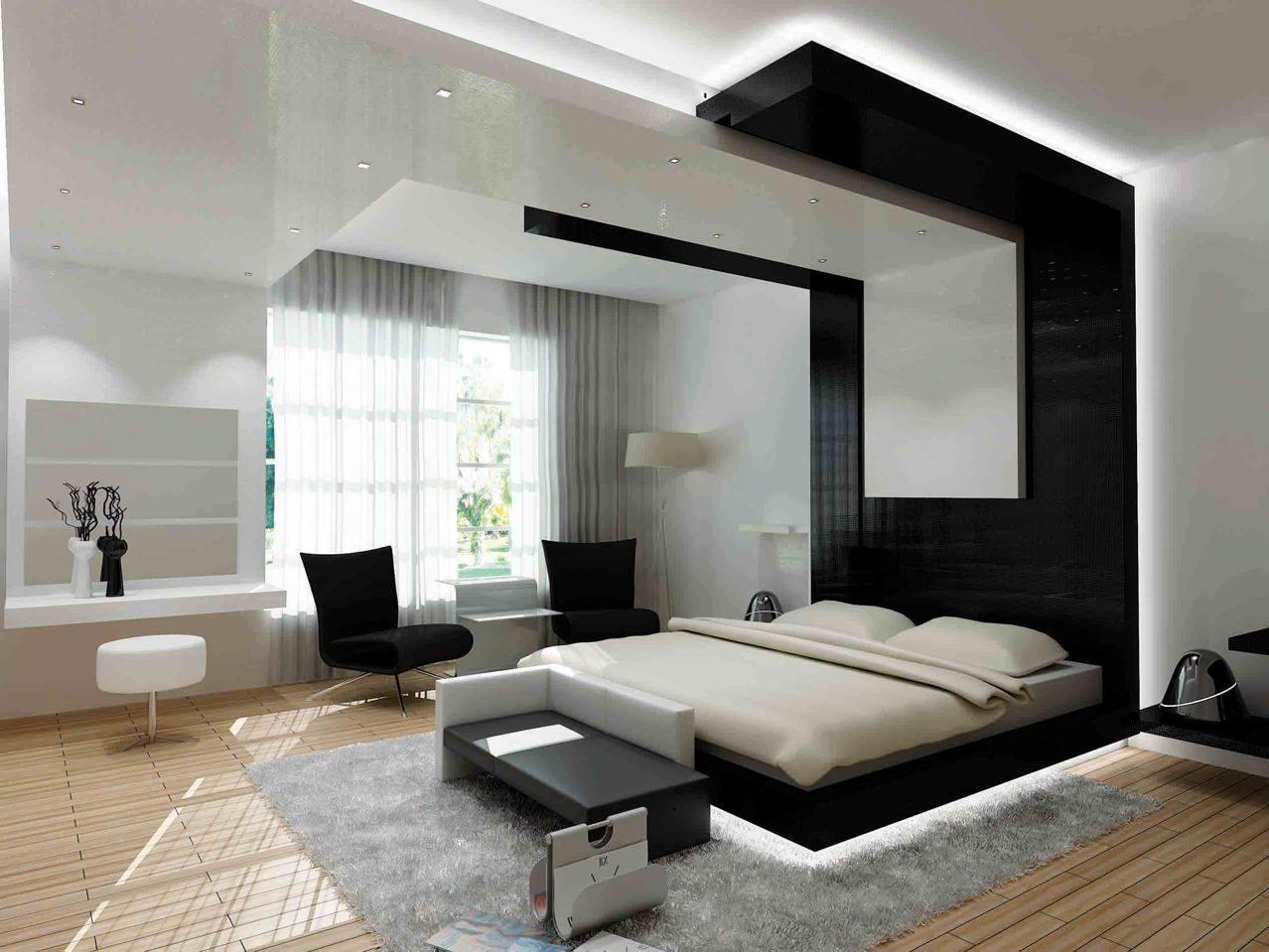Dormitorio de estilo moderno :: Imágenes y fotos