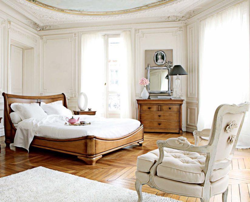 Dormitorio rústico de tonos claros :: Imágenes y fotos