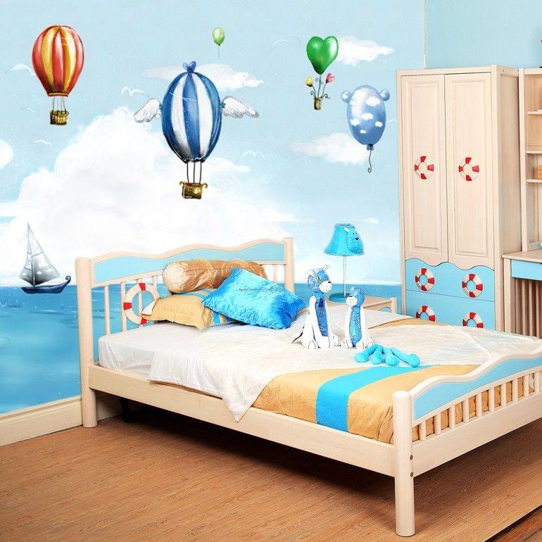 Habitaci n infantil con papel pintado im genes y fotos for Papel decorativo pared infantil