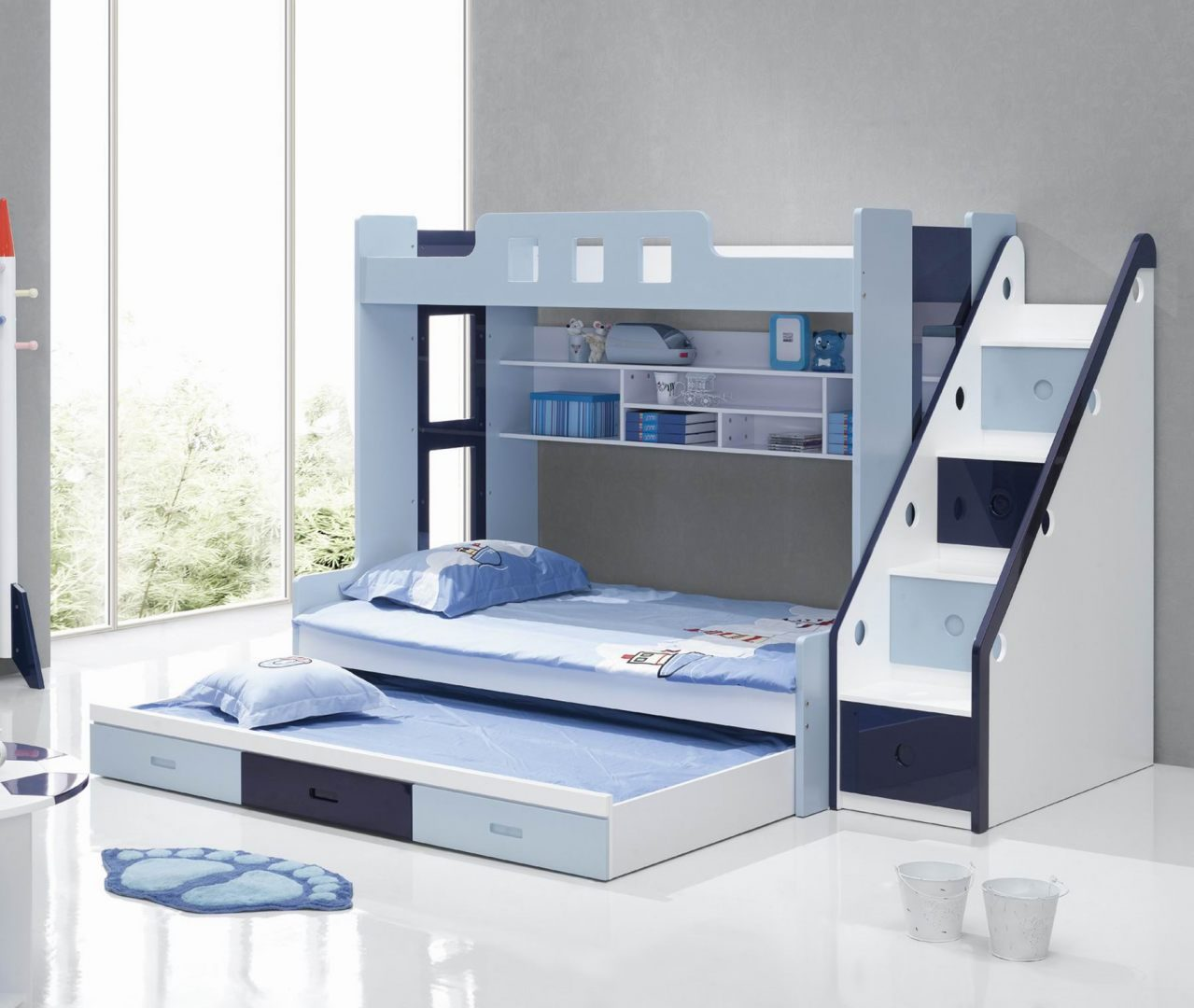 Bunk Bed with Trundle 1279 x 1080