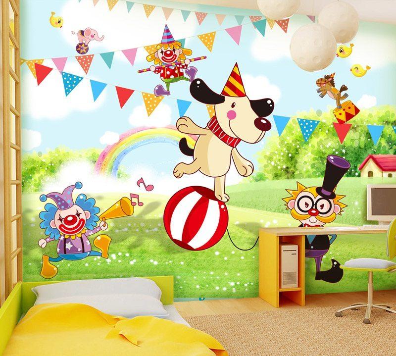Papel pintado para habitaciones infantiles im genes y fotos for Papel pintado infantil
