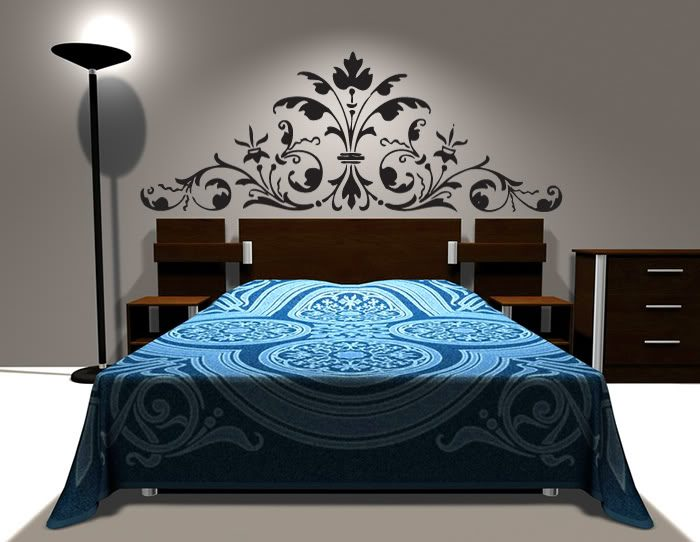 stickers para el cabecero de la cama im genes y fotos. Black Bedroom Furniture Sets. Home Design Ideas